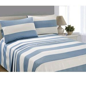 Other - Blue Stripe Microfiber King Sheet Set